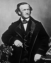 Portrait photograph of Richard Wagner