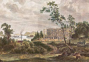 Painting: The building of Herrenchiemsee Palace