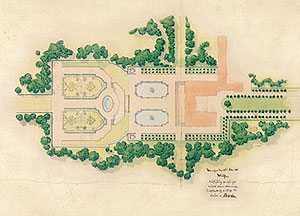 Picture: Simplified version of the gardens designed by Court Garden Director Jakob Möhl, 1888