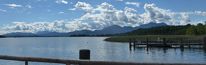 Picture: View of the Chiemsee from Herrenchiemsee Island